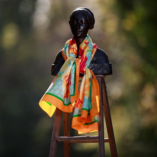 Collection foulards étoles soie et coton