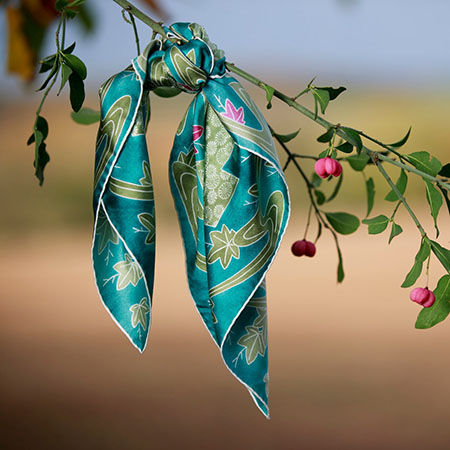 Foulard Bandana Fusain Kimonon tilleul